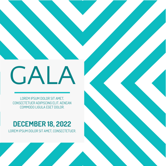 Invitation template: Gala Invitation (Created by InfoART's Invitation marker)