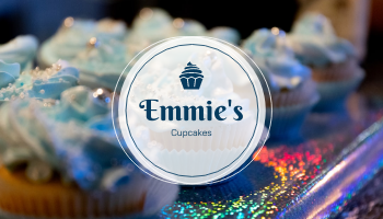 Business Card template: Galaxy Cupcakes Photo Bakery Business Card (Created by InfoART's Business Card maker)