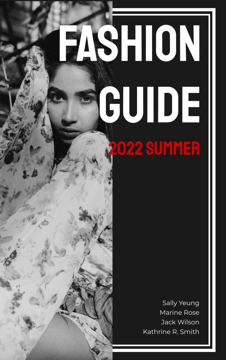 Book Cover template: Fashion Guide Book Cover (Created by InfoART's Book Cover maker)