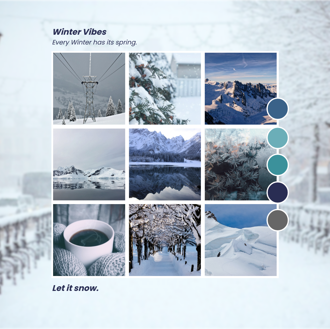 Photo Collage template: Winter Vibes Photo Collage (Created by Collage's Photo Collage maker)