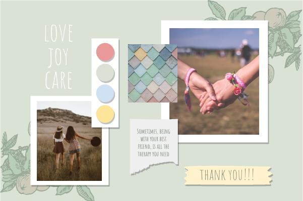 Greeting Card template: Friend Bracelets Greeting Card (Created by Collage's Greeting Card maker)