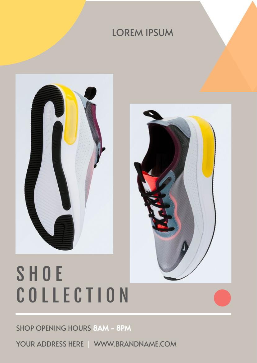 Flyer template: Shoe Collection Flyer (Created by InfoART's Flyer maker)