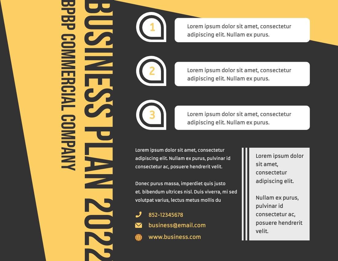 Brochure template: Business Plan Brochure (Created by InfoART's Brochure maker)