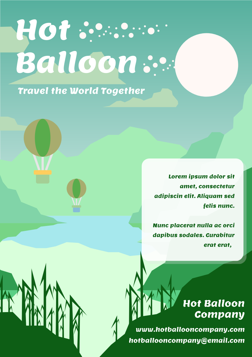 Flyer template: Hot Balloon Flyer (Created by InfoART's Flyer maker)