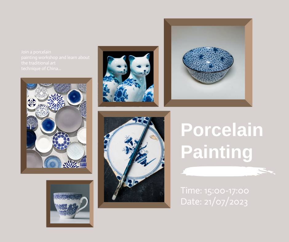 Facebook Post template: Porcelain Painting Facebook Post (Created by Collage's Facebook Post maker)