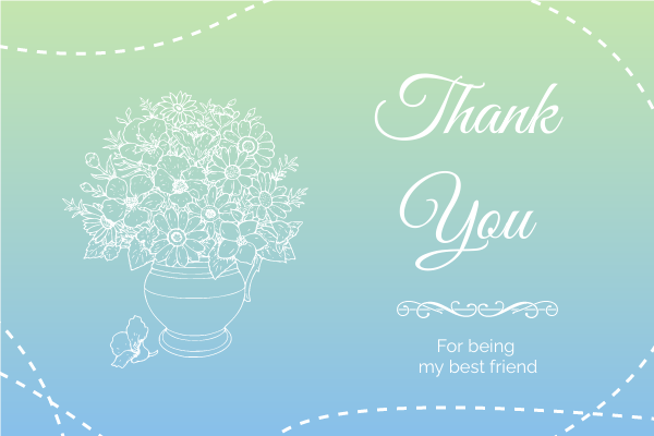 Greeting Card template: Colour Gradient Thank You Greeting Card (Created by InfoART's Greeting Card maker)