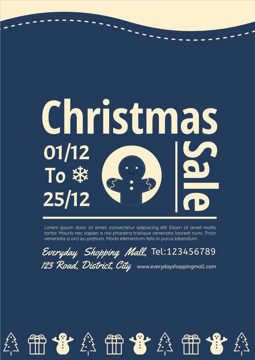 Flyer template: 2-colour Christmas Sale Flyer (Created by InfoART's Flyer maker)