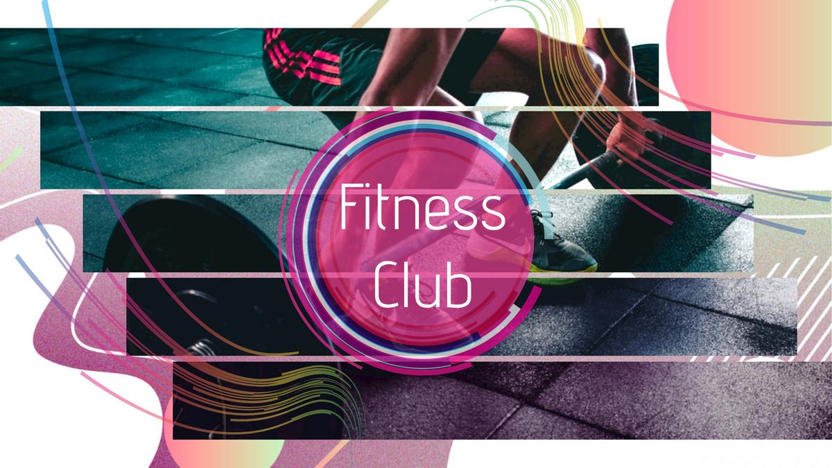 YouTube Channel Art template: Fitness Club YouTube Channel Art (Created by Collage's YouTube Channel Art maker)