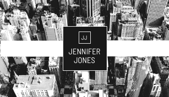 Business Card template: Black And White City Photo Business Card (Created by InfoART's Business Card maker)