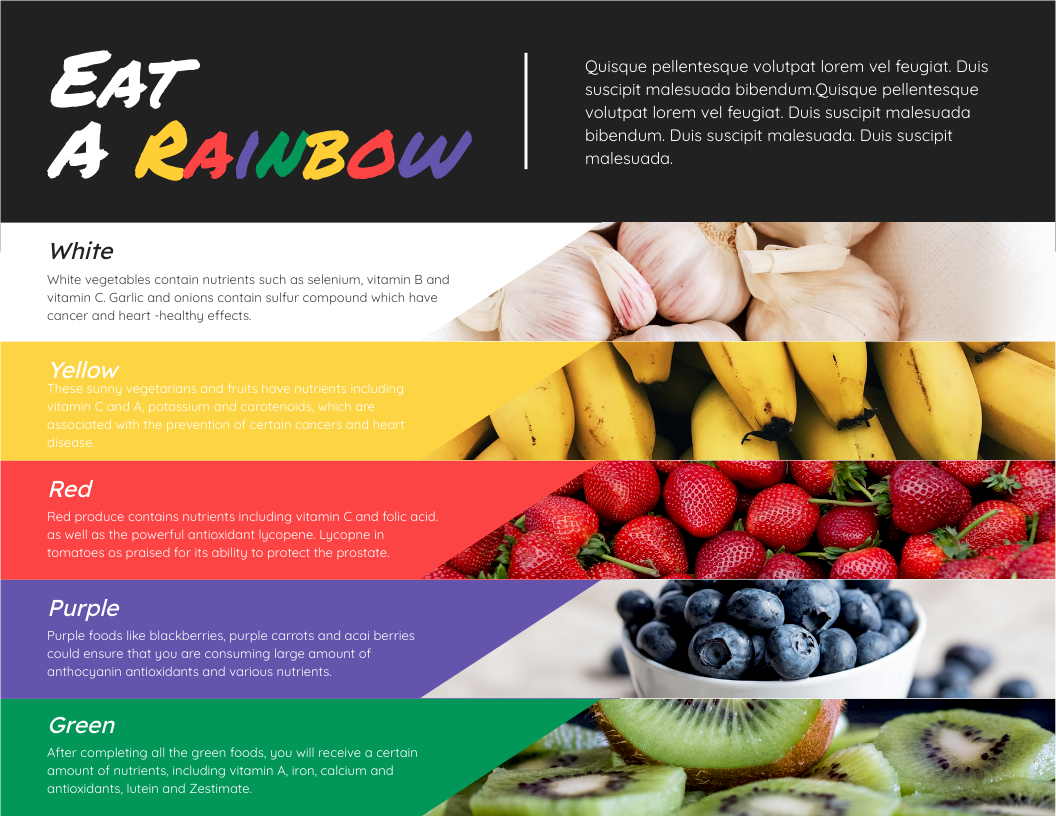 Infographic template: Eat A Rainbow Infographic (Created by InfoART's Infographic maker)