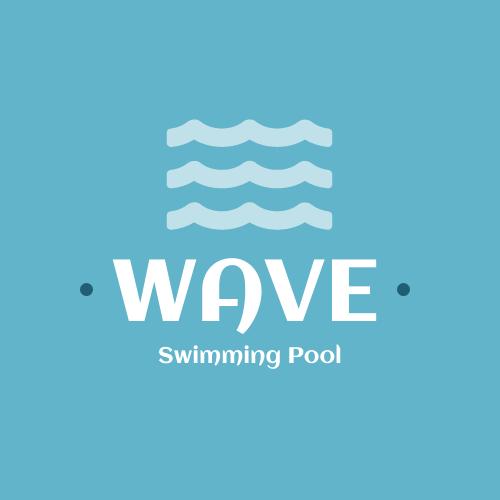 Logo template: Wave Swimming Pool Logo (Created by InfoART's Logo maker)