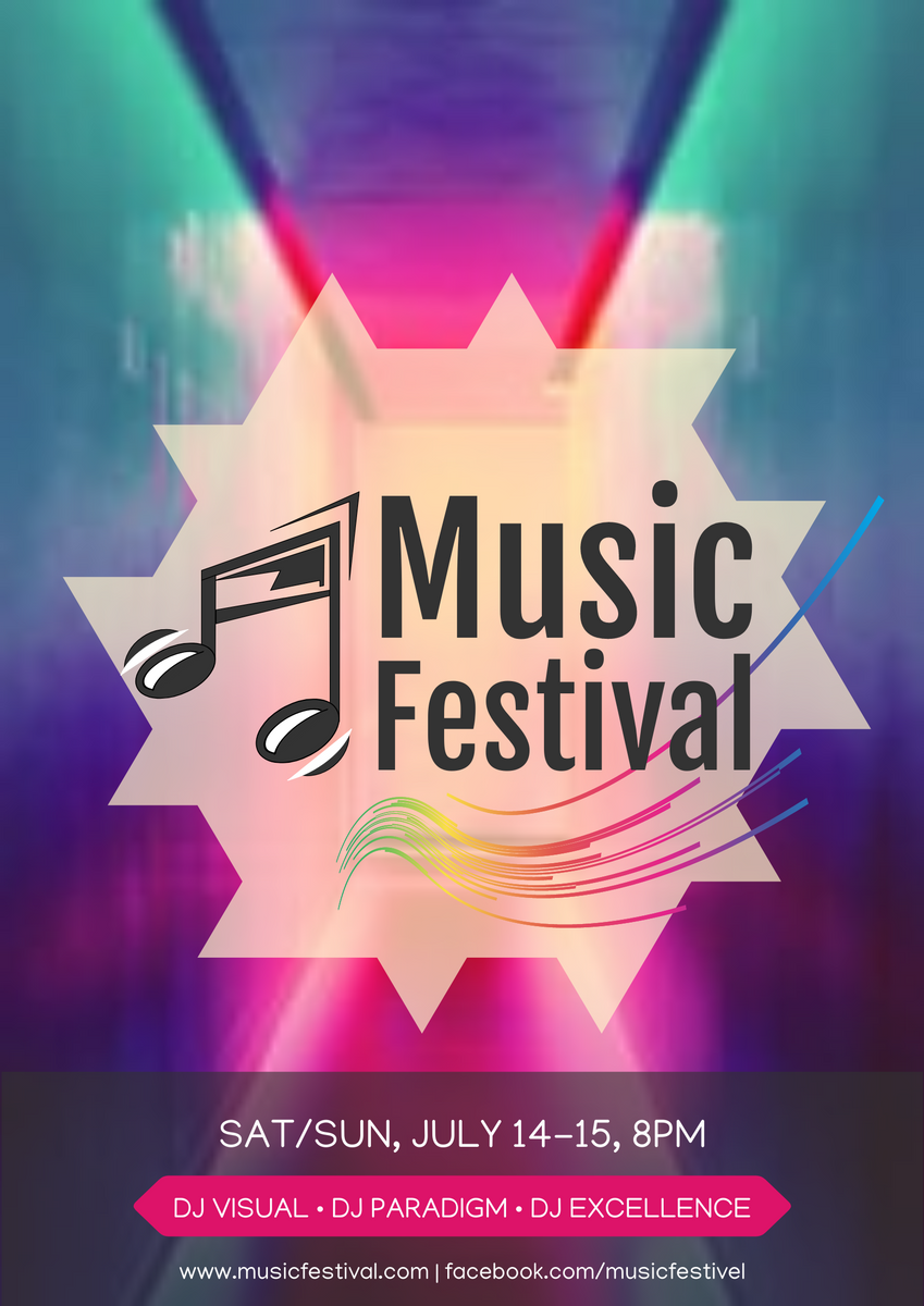 Poster template: Music Festival Poster With Details (Created by InfoART's Poster maker)