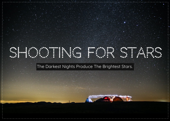 Postcard template: Stars Postcard (Created by InfoART's Postcard maker)
