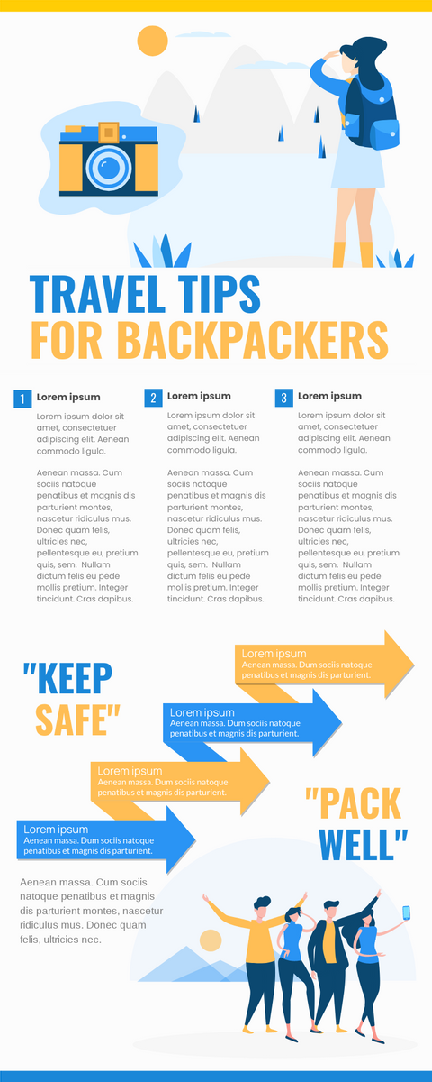 Infographic template: Travel Tips Infographic (Created by InfoART's Infographic maker)