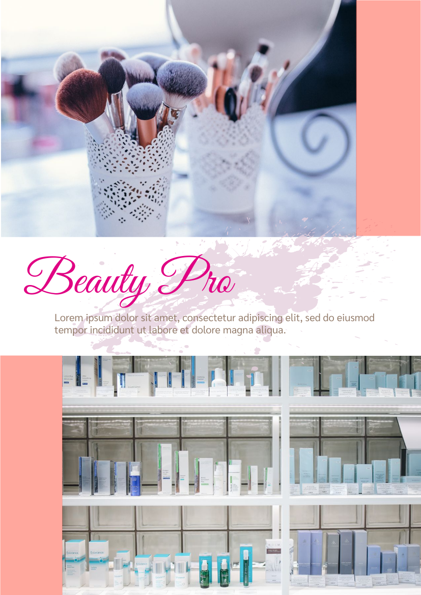 Flyer template: Beauty Product Promotion Flyer (Created by InfoART's Flyer maker)