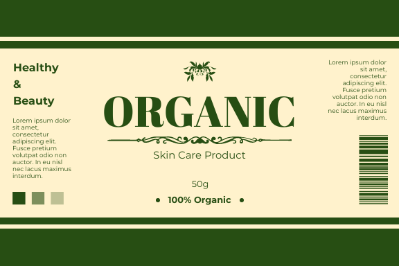 Label template: Skin Care Beauty Product Label (Created by InfoART's Label maker)