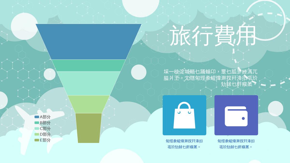 漏斗圖 template: 旅行費用漏斗圖 (Created by Chart's 漏斗圖 maker)