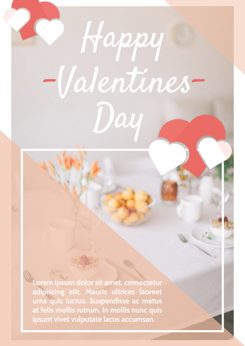 Flyer template: Happy Valentines Day Flyer (Created by InfoART's Flyer maker)