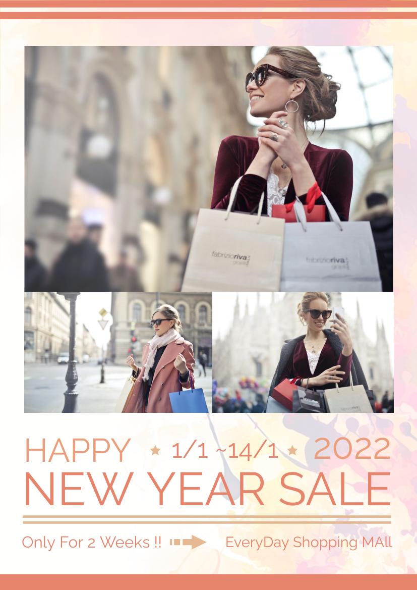Flyer template: New Year Sale Flyer (Created by InfoART's Flyer maker)