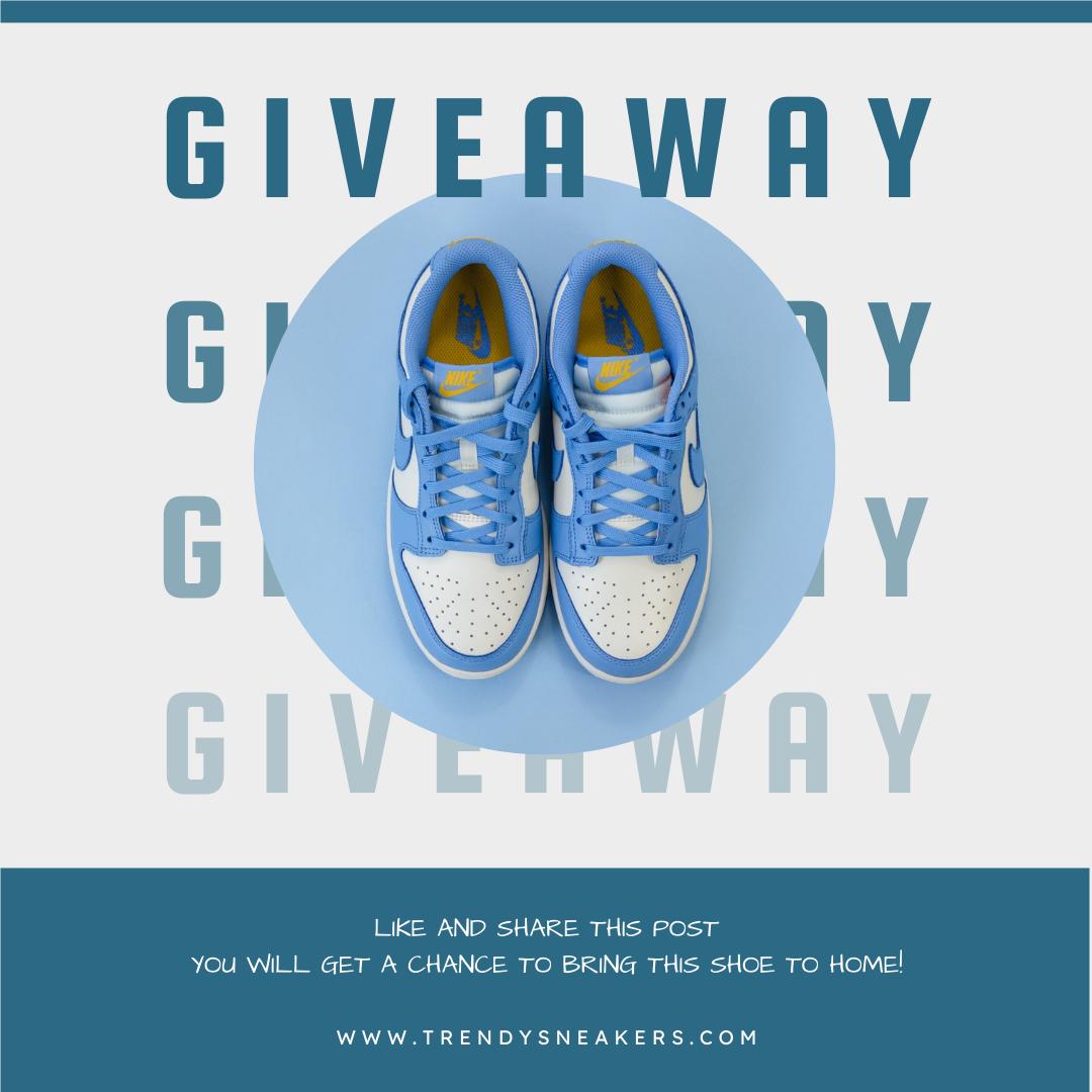 Instagram Post template: Sneakers Giveaway Photo Instagram Post (Created by InfoART's Instagram Post maker)