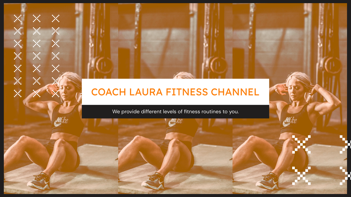 YouTube Channel Art template: Fitness Coach Workout Classes YouTube Channel Art (Created by InfoART's YouTube Channel Art maker)