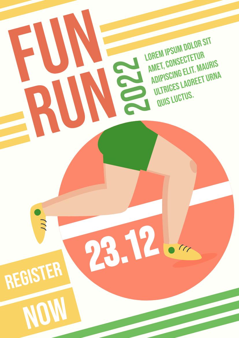 Flyer template: Fun Run (Created by InfoART's Flyer maker)
