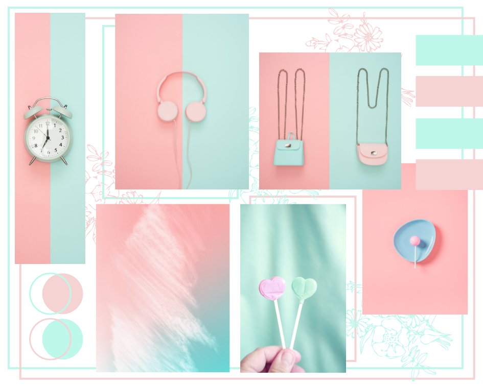 Mood Board template: Two Tone Mood Board (Created by Collage's Mood Board maker)