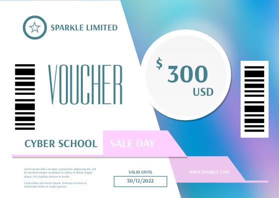Gift Card template: Cyber School Sale Gift Card (Created by InfoART's Gift Card maker)