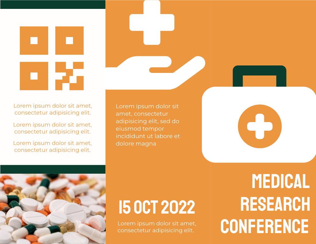Brochure template: Medic Brochure (Created by InfoART's Brochure marker)