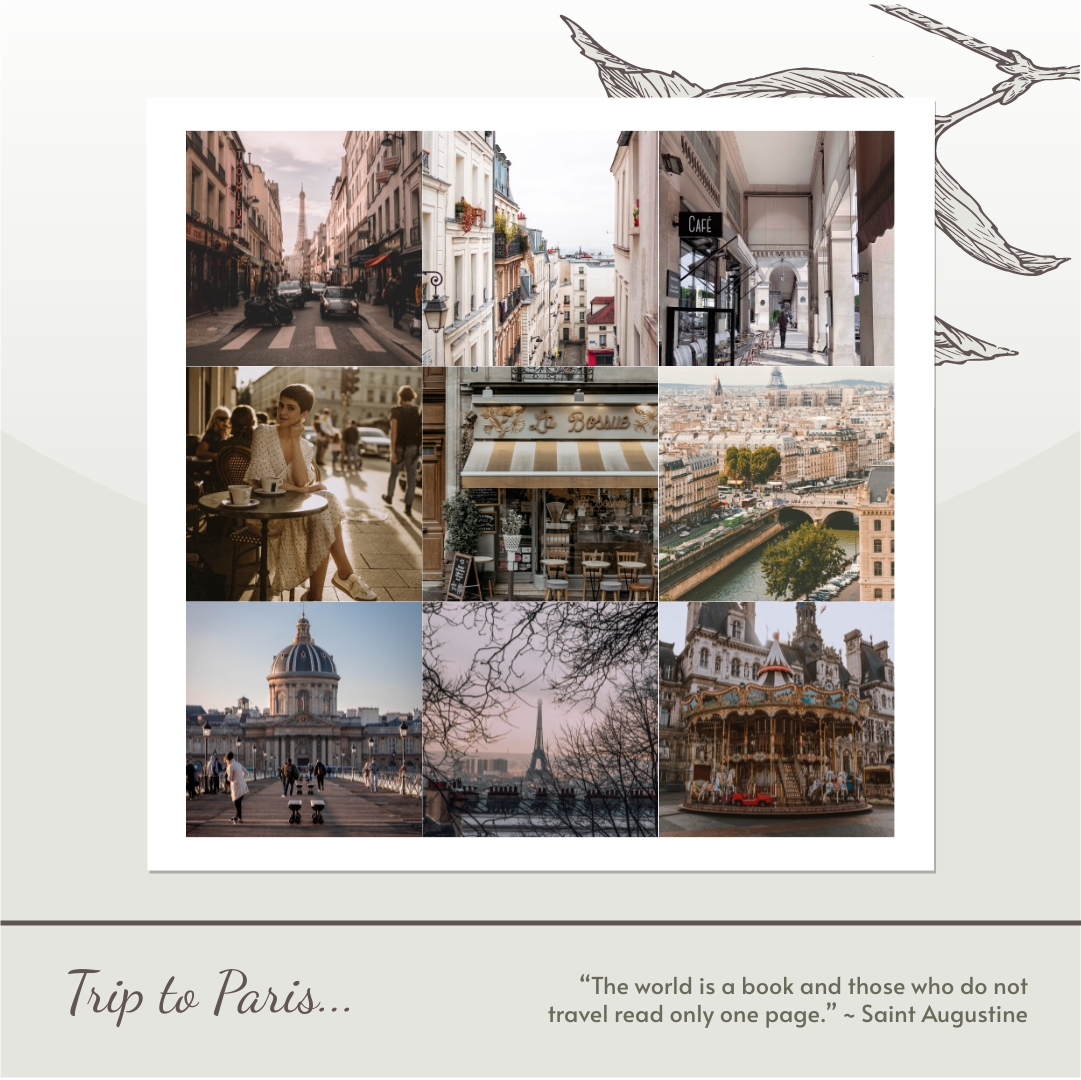 Instagram Post template: Travel To Paris Instagram Post (Created by Collage's Instagram Post maker)