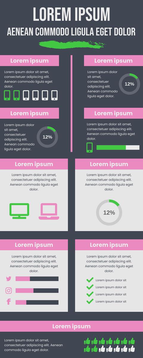 Infographic template: Digital Data Presentation Infographic (Created by InfoART's Infographic maker)