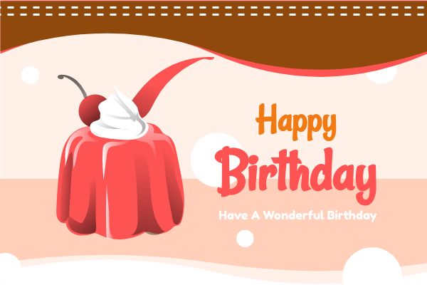 Greeting Card template: Red Birthday Cake Greeting Card (Created by InfoART's Greeting Card maker)