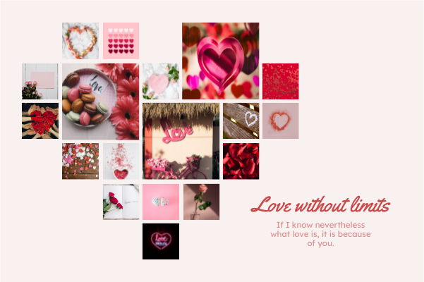 Greeting Card template: Love Without Limits Greeting Card (Created by Collage's Greeting Card maker)