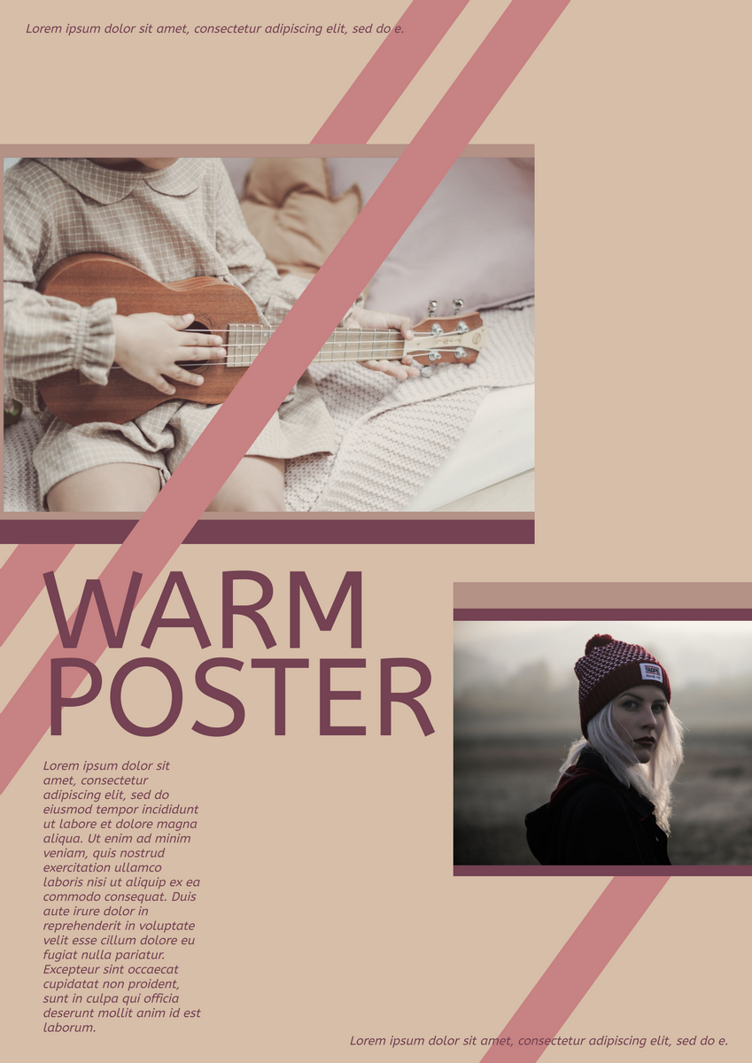 Poster template: Warm Poster (Created by InfoART's Poster maker)