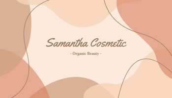 Business Card template: Cosmetic Business Cards (Created by InfoART's Business Card maker)