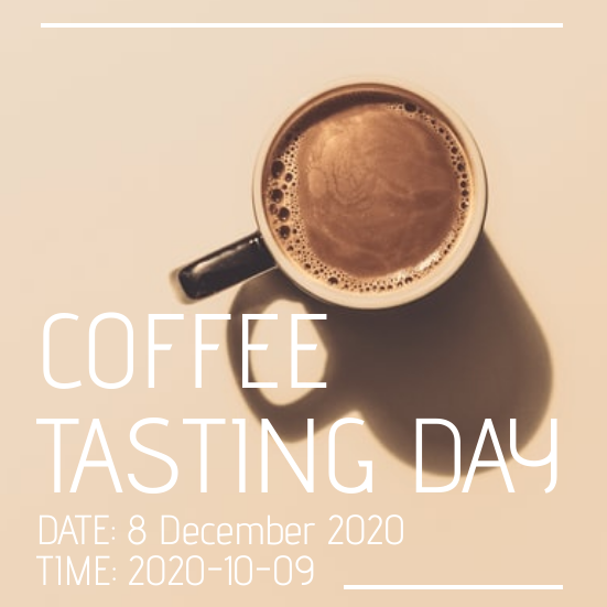 Invitation template: Coffee Tasting Day (Created by InfoART's Invitation marker)