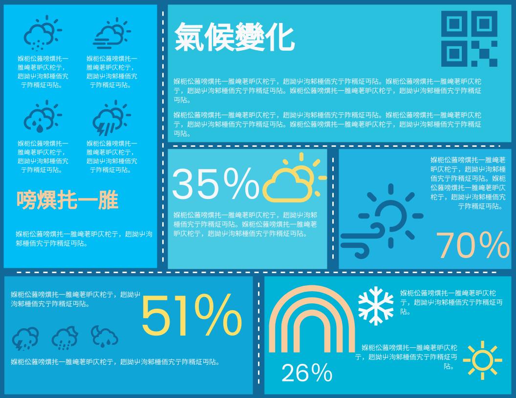 信息圖表 template: 氣候變化資料圖 (Created by InfoART's 信息圖表 maker)