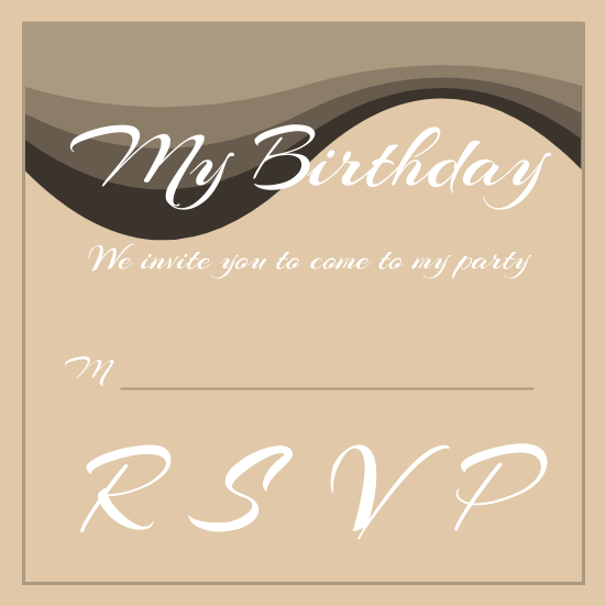 Invitation template: Birthday Party Invitation (Created by InfoART's Invitation marker)