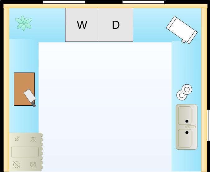 Kitchen Floor Plan template: Kitchen Layout (Created by Diagrams's Kitchen Floor Plan maker)