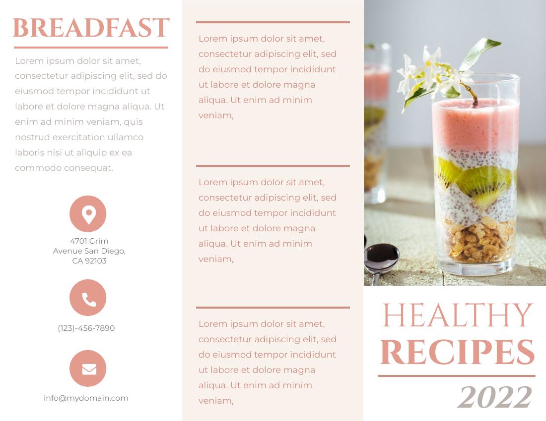 Brochure template: Healthy Recipe Brochure (Created by InfoART's Brochure marker)