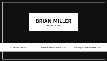 Business Card template: Black And White Strips Pattern Photo Business Card (Created by InfoART's Business Card maker)