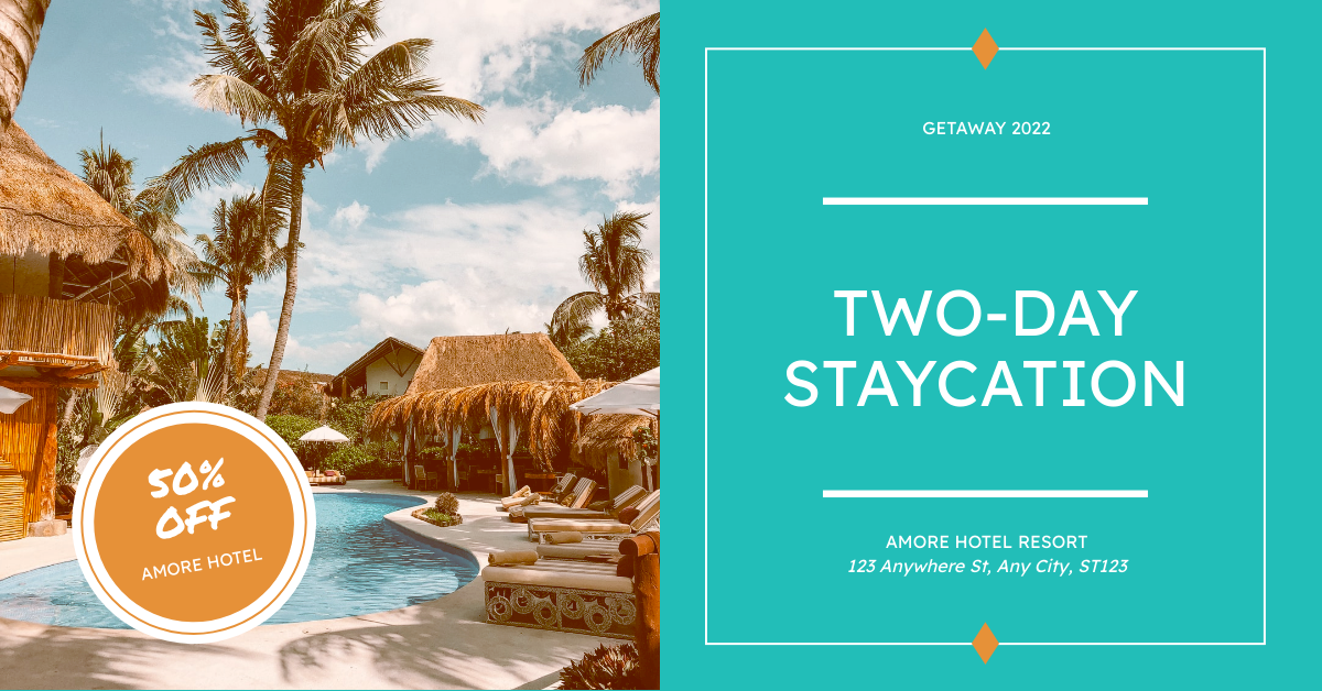 Facebook Ad template: Hotel Staycation Promotion Facebook Ad (Created by InfoART's Facebook Ad maker)