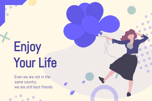 Greeting Card template: Enjoy Your Life Greeting Card (Created by InfoART's Greeting Card maker)
