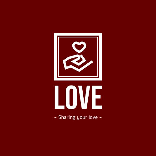 Logo template: White Holding Love Logo Created For Charity  (Created by InfoART's Logo maker)