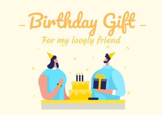 Gift Card template: Birthday Gift Card (Created by InfoART's Gift Card marker)