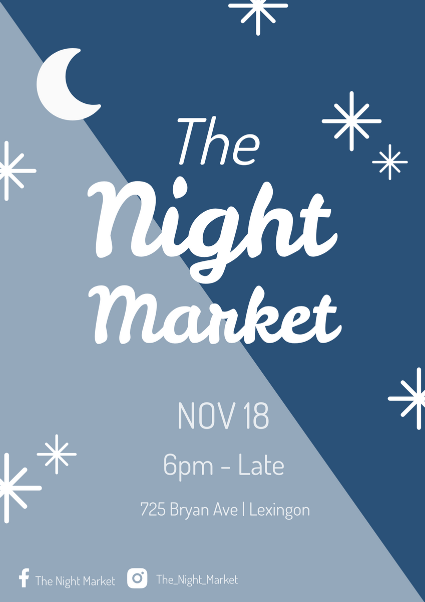 Poster template: The Night Market Poster (Created by InfoART's Poster maker)