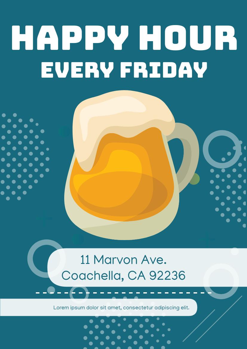 Flyer template: Beer Discount Flyer (Created by InfoART's Flyer maker)