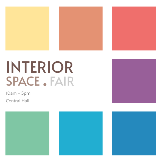 Invitation template: Interior Space Fair (Created by InfoART's Invitation marker)