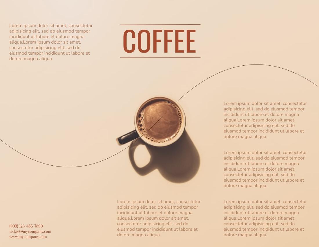 Brochure template: Coffee Promotion Brochure (Created by InfoART's Brochure maker)