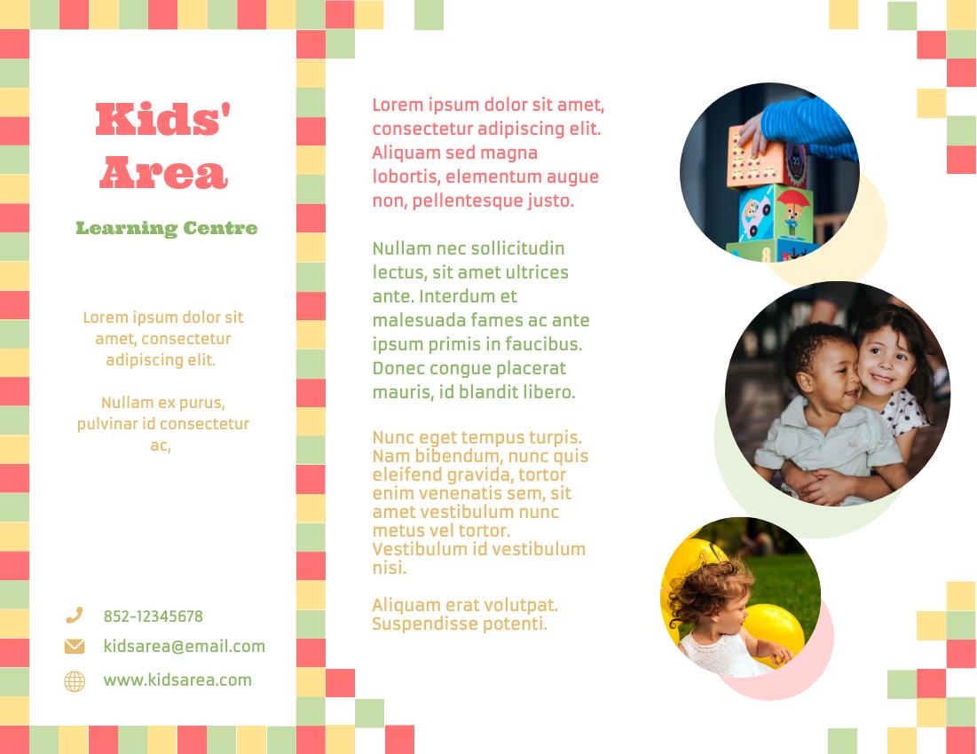 Brochure template: Children Learning Centre Brochure (Created by InfoART's Brochure marker)